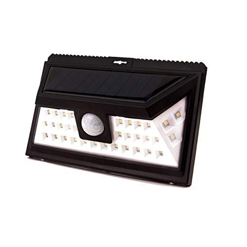 24 LED Solar Sicherheitssensor Lichter, wasserdicht drei Körper Infrarot Induktion Super helle LED Solar Wandleuchte einfach zu installierende Sicherheitsleuchten für Haustür Hof Garage Deck Veranda S