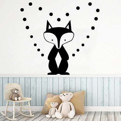Sanzangtang Stickers hart vos milieuvriendelijk woonkamer school kantoor decoratie Nordic stijl huis