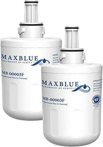 Maxblue DA29-00003F Filtro de Agua de Refrigerador, Compatible con Samsung DA29-00003F, DA29-00003G, HAFIN1 / EXP, DA97-06137A-B (2)