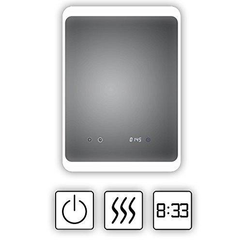 HOKO® LED Bad Spiegel beleuchtet mit Digital Uhr  ANTIBESCHLAG SPIEGELHEIZUNG Bild 5*