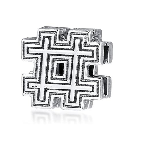 PANDOCCI 2019 Pre Herbst Reflexionen Hashtag Symbol Clip Perle 925 Silber DIY Passt für Ursprüngliche Pandora Armbänder Charme Modeschmuck