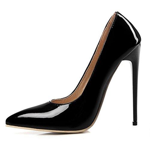 Onewus Zapatos de tacón para mujer elegantes con tacón alto de aguja...