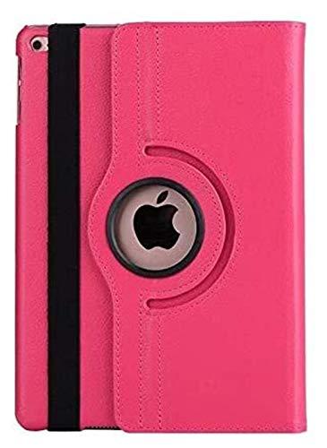 ZRH Accesorios de pestañas Tapa Inteligente para iPad Air 1/2, Caja giratoria de 360 Grados para iPad 9.7 iPad 5th / 6th Tablet Sket Shell + Stylus + película (Color : Rose Red)