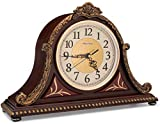 Olden Days Mantel Clock with Real Wood, 4 Chime Options, Antique Vintage Design
