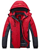 Wantdo Women's Waterproof Mountain Jacket Fleece Ski Jacket, Large, Red