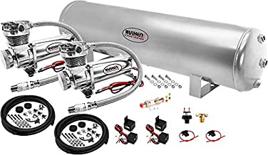 Vixen Air Suspension Kit for Truck/Car Bag/Air Ride/Spring. On Board System- Dual 200psi Compressor, 5 Gallon Tank. for Boat Lift,Towing,Lowering,Load Leveling,Bags,Onboard Train Horn VXO4852GDC
