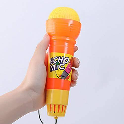 Pudincoco Echo Micrófono Mic Cambiador de Voz Juguete Regalo Regalo de cumpleaños Fiesta para niños Canción de Aprendizaje Juguetes para niños (al Azar)