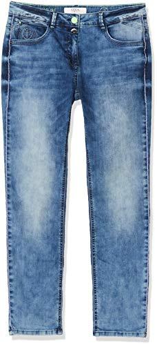 Cecil Damen Charlize Jeans, Blau (Mid Blue Wash), W34/L30