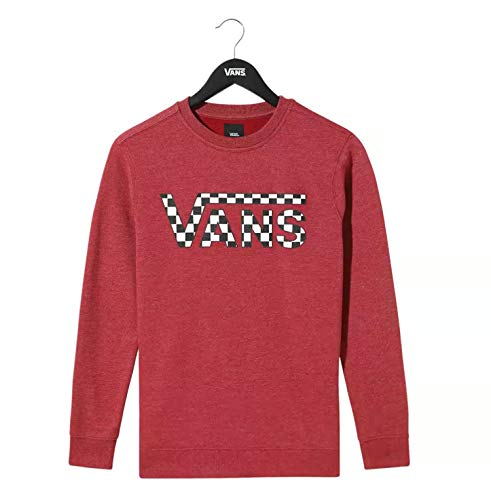 Vans Classic Biking Checkerboard Sweatshirt Kinder Granat 6-8 Jahre (116-128 cm)