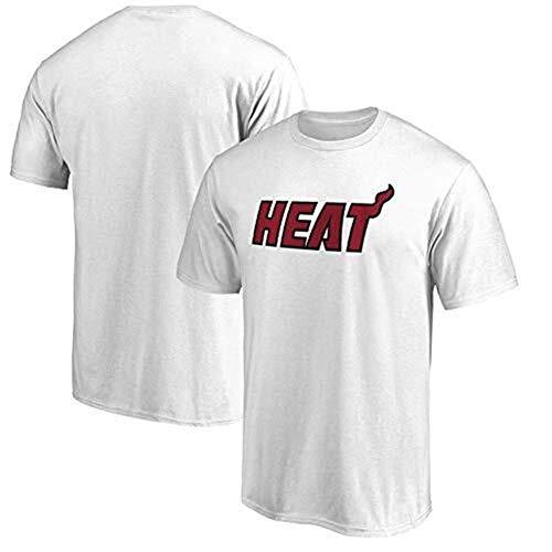 CZLSD T-Shirt Maniche Corte Manica Corta NBA Miami Heat Dwyane Wade Fan commemorativa Uniforme da Basket Mezza Manica Maglia (Color : White, Size : M)