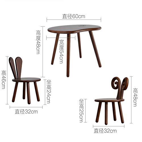 HSLX kruk Massief hout kindertafel en kinderstoel set kleuterschool bureau leerlingen thuis studie bureau en stoel bureau combinatie