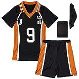 Haikyuu Cosplay Costume Mesh Sportswear Uniform Karasuno Knee Pads Set(NO.9) XL