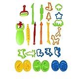 shentaotao 26PCS Masa de Arcilla de Barro Herramientas Herramientas de Conjuntos de Colores de plastilina moldes DIY niños Playset Formas de Animales Aptos para niños