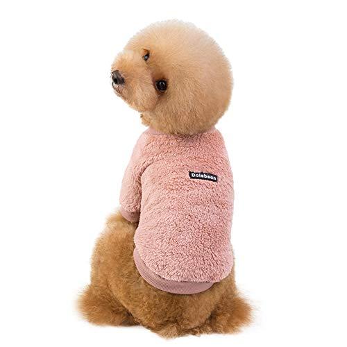 RTEAQ Hundekleidung Neueste Haustierkleidung Super Warme Hundekleidung Fleece Warme Flanellkleidung für Hunde Hund Winterjacke Hundekostüm Hundemantel
