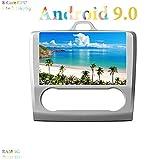 XISEDO Android 9.0 Autoradio 9 Pulgadas Car Radio 8-Core RAM 4G ROM 32G GPS In Dash Radio de Coche para Ford Focus (2006-2009) (para Aire Acondicionado Automático, Autoradio)