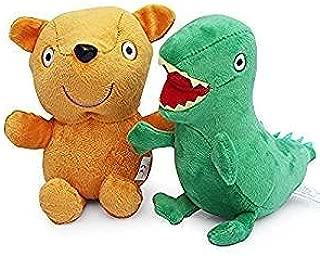 2Pcs Teddy Bear George Dinosaur Plush Doll Stuffed Animal Toy 11