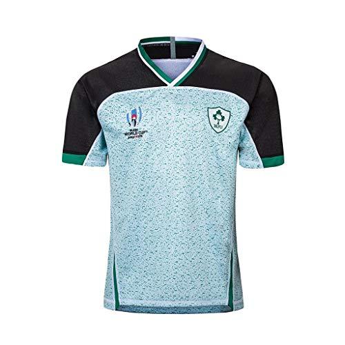 Haoyue Fan Trikot 19/20 Irland Weltmeisterschaft Trikots 2019 Weg Und Nach Hause Profi Rugby Jersey (Color : Ireland Away, Size : XXL)