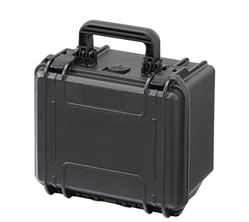MAX235H155S - Wasserdichter- und Staubdichter Koffer mit Zupfschaum im Boden und Noppenschaum im Deckel (258mm x 243mm x 167,5mm)