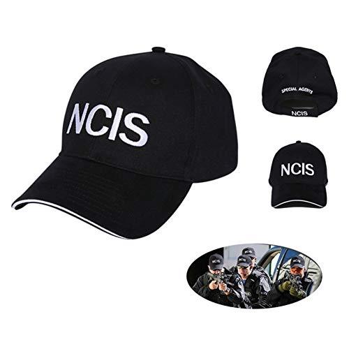 Yooci Cap NCIS Cap Stickerei Hut Special Agents Logo Hut Naval Criminal Investigative Service Movie Cap Einstellbare Baseballmütze NCIS Cap