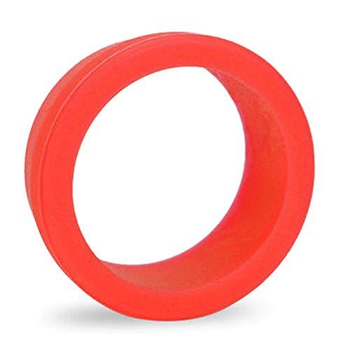 VerneAnn - Funda para tija de sillín (1 par) de silicona suave al aire libre decorativa Mini bicicleta de montaña accesorios para bicicleta de bicicleta de montaña, elástico, resistente al polvo (negro), No nulo, rojo, small