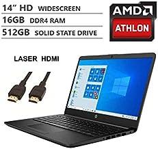 2020 Newest HP 14 Inch Premium Laptop, AMD Athlon Silver 3050U up to 3.2 GHz(Beat i5-7200U), 16GB...