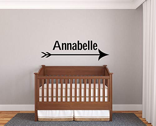 Custom Name Arrow Prime Series Baby Girl Nursery Wall Decal For Baby Room Decorations Mural Wall Decal Sticker For Home Children'S Bedroom