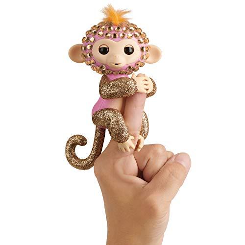 WowWee Fingerlings Monkeys - Fingerblings - Glimmer (Pink/Rose Gold) - Friendly Interactive Toy