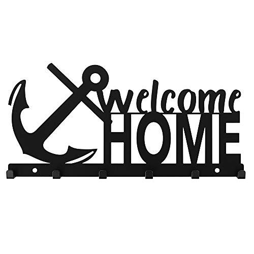 Bentatec Schlüsselbrett Welcome Home mit Anker - 6 Haken