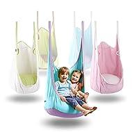 HAPPY PIE PLAY&ADVENTURE HappyPie Frog Folding Hanging Pod Swing Seat Indoor and Outdoor Hammock for Children to Adult (Blue)