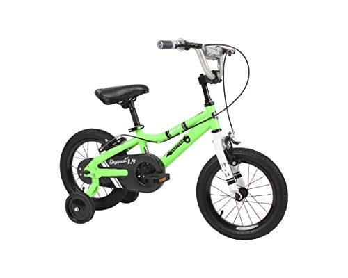 """Duzy Customs 14"""" Green Kids Bike with Five Minute Quick Assembly"""