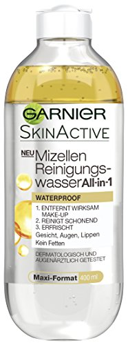 Garnier Mizellen Reinigungswasser All-in-1 Waterproof, Gesichtsreinigung, entfernt wasserfestes Make up (6 x 400 ml)