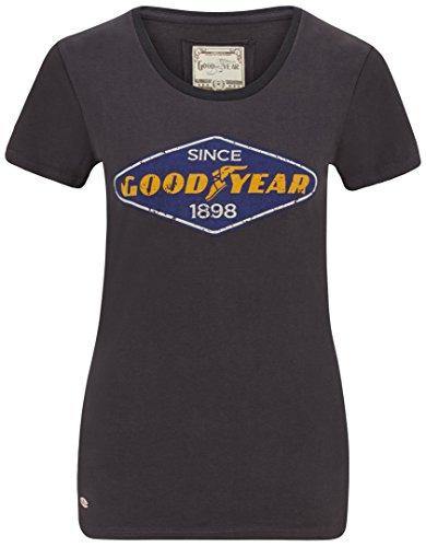 Goodyear Eureka T-Shirt Femme, Bleu, FR : 2XL (Taille Fabricant : XXL)