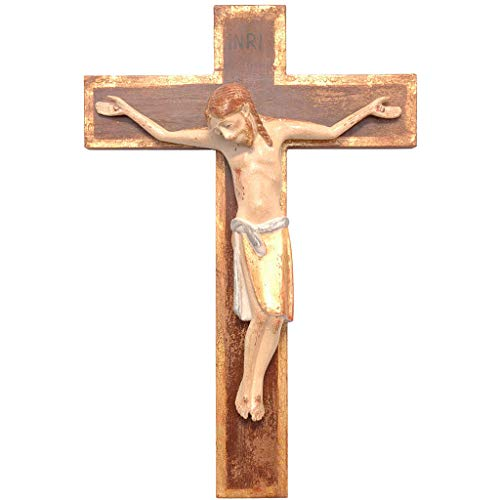 Holyart Crucifijo ROM?Nico 25cm, Madera Valgardena Viejo Ant