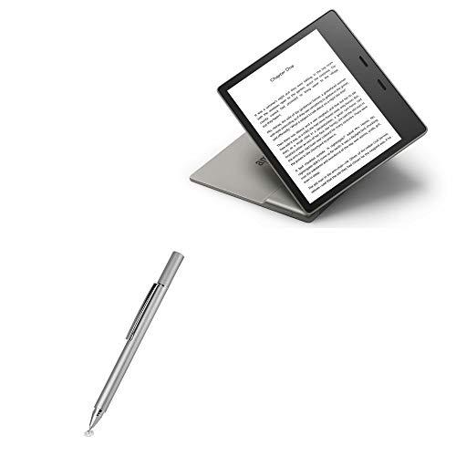 Caneta Stylus Amazon Kindle Oasis (3ª geração 2019), BoxWave [FineTouch Capacitive Stylus] Caneta Stylus super precisa para Amazon Kindle Oasis (3ª geração 2019) - Prata metálica