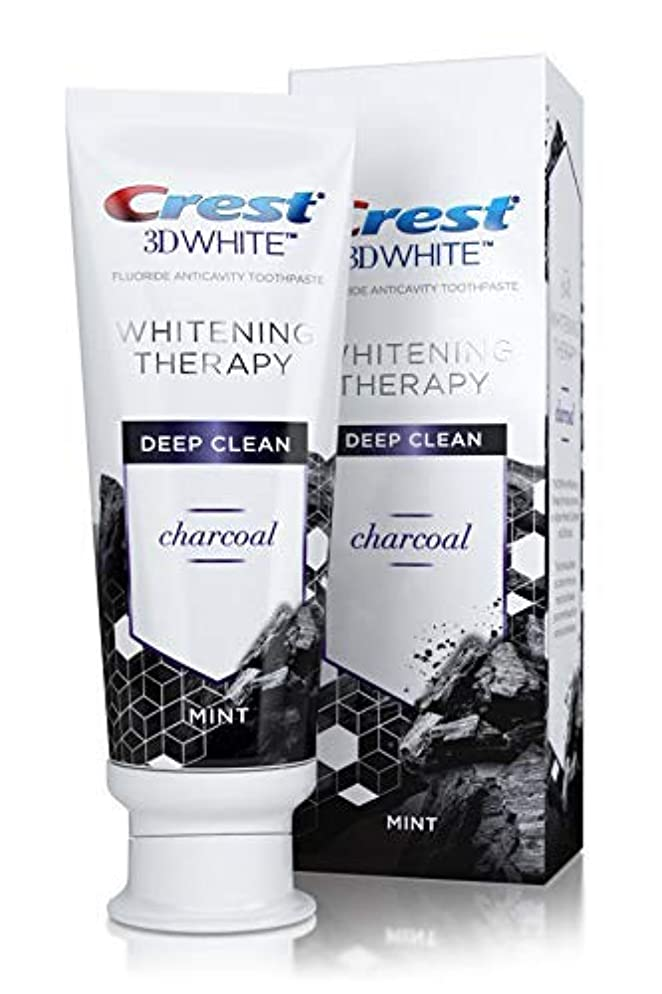 Crest 3D Whitening Therapy Deep Clean Charcoal Invigorating Mint 4.1 Ounce (Two Pack)