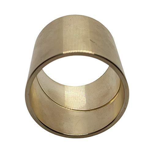 Gleitlagerbuchse 30mm x 35mm x 30mm | Gleitlager aus Bronze mit Schmiernut | Bronze-Gleitlager 30x35x30 | ZINNBRONZE | 1 Stück