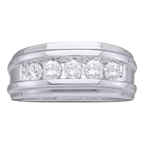 Sonia Jewels Size 13-14k White Gold Diamond Wedding Mens Ring Band (1/4 cttw.)