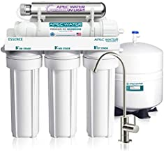APEC Water Systems ROES-UV75-SS Top Tier Violet Sterilizer 75 GPD 6-Stage Ultra Safe Reverse Osmosis Drinking Water Filter System, Stainless Steel UV Housing, white