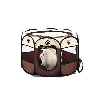 BABI Cage Pliante pour Animaux de Compagnie 600D Portable Oxford Chien playpen Pet clôture chenil Chiot Chaton Sleeping House Exercice en Plein air Tente pour Animaux de Compagnie