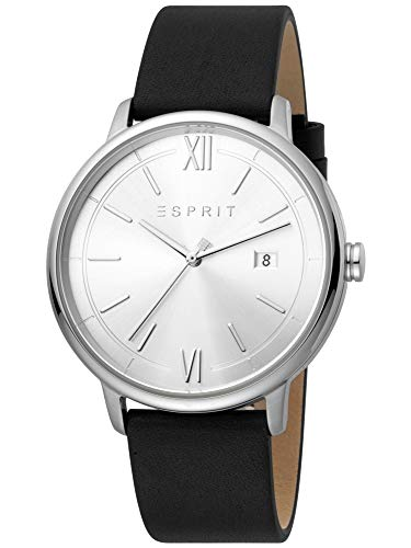 Esprit Kaya Gents ES1G181L0015 - Reloj de pulsera para hombre (correa de piel, indicador de fecha), color negro