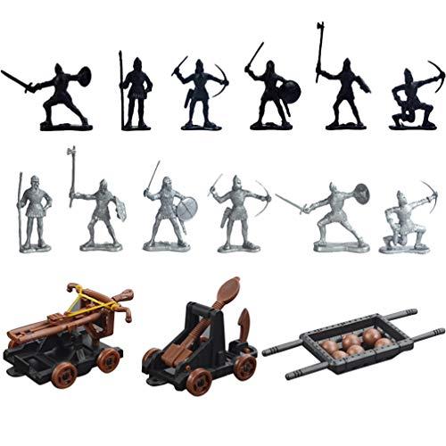 TOYANDONA 14 Piezas Figuras de Soldado de Juguete Arquero de Plástico Fuerza Militar Modelo de Ensamblaje de Soldado del Ejército Mini Figuras de Acción Juguete Educativo Temprano (Color Surtido)