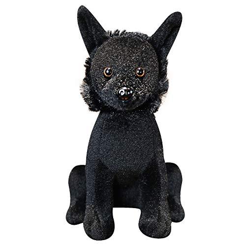 N / A LovelyPlush Black Dog Toys Kuscheltiere Puppen Dog Plüschtier Kawaii Doft Toys Kids Present 22cm
