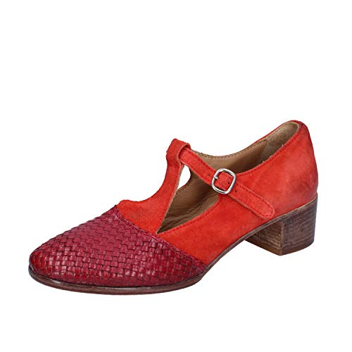 MOMA Pumps Damen Wildleder rot 37 EU