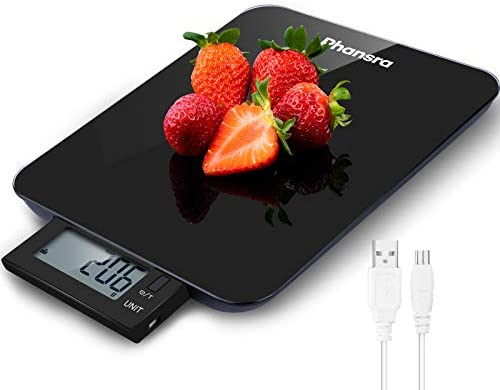 Phansra Food Scale 22lb Rechargeable Digital Kitchen Scale with IPX5 Waterproof and Pull Out product image