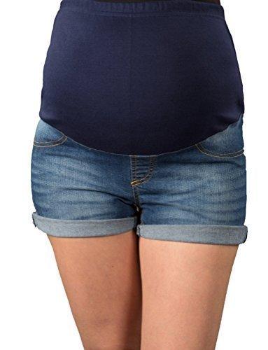 Jeans corti premaman con fascia addominale 9037 Slavato 40