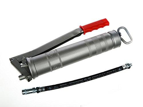 Industriefettpresse M10x1 - Metallausführung, Kurzhubsystem - für 400g-Kartuschen (DIN 1284) oder 500g loses Fett mittels Spachtel
