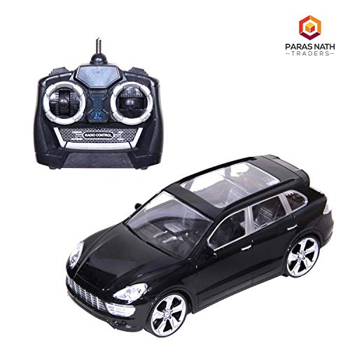 Lucid 4 Function Radio & Remote Control Car (1:18) Scale, Forward, Backward, Rightward and Leftward Function High Class Interior SUV. (Black & Red)