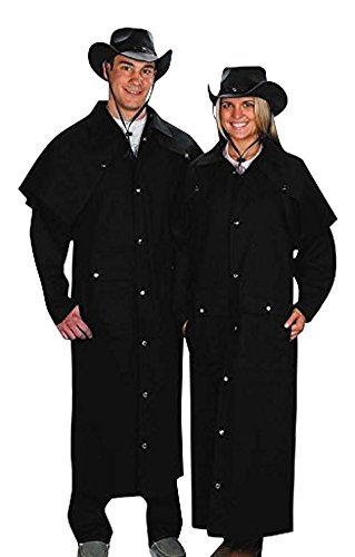 Sunrise Outlet Adult Black Denim Cotton Western Duster Jacket-Medium