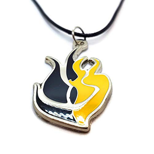 Damian Black RWBY Bumbleby Necklace Bumblebee Yang X Blake (Necklace with Leather Cord)