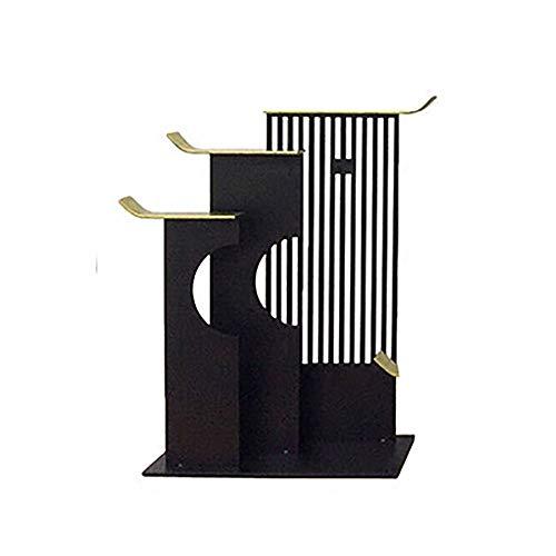 KK Zachary Decoración moderna y creativa de aleros de metal para el hogar, porche de vino, decoración de oficina, manualidades, decoración de 42 x 12 x 19 cm (tamaño: C)